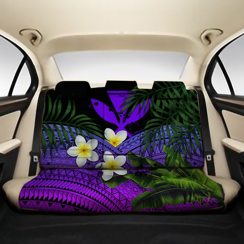Kanaka Maoli (Hawaiian) Back Car Seat Covers - Polynesian Plumeria Banana Leaves Purple A02