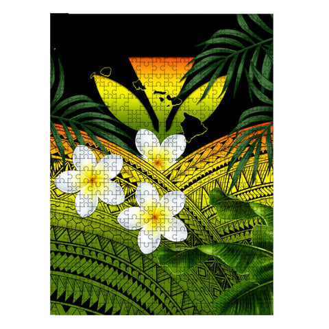 Kanaka Maoli (Hawaiian) Jigsaw Puzzle Polynesian Plumeria | Love The World
