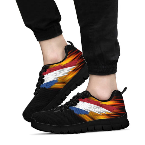 Netherlands Sneakers - Fire Wings and Flag | LOVE THE WORLD