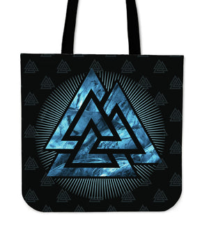 Viking Tote Bag - Valknut Blue A1