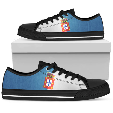 Image of Kingdom of Portugal Flag Low Top Shoes | Love Kingdom of Portugal | Hot Sale