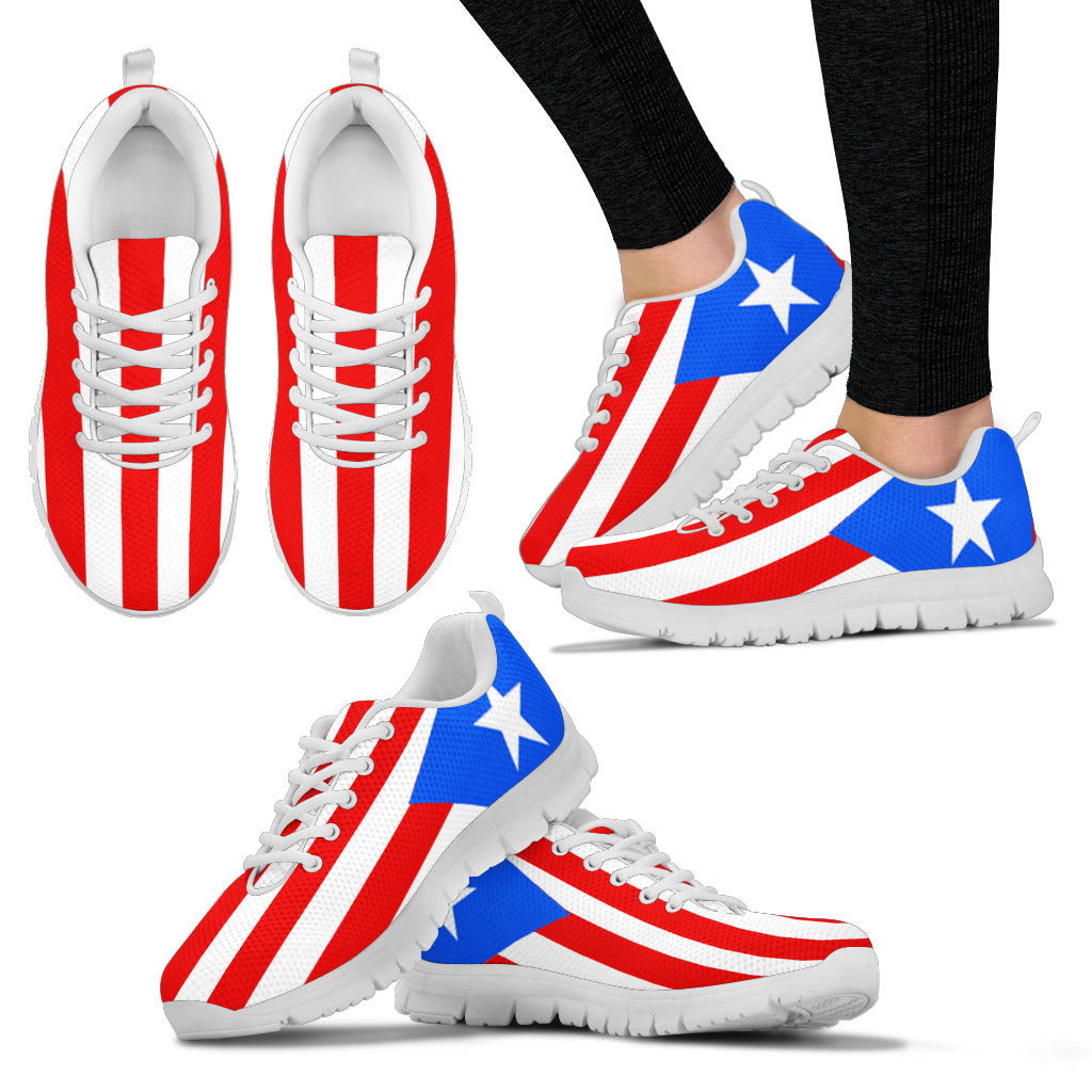 Puerto Rico Flag Mens  Womens Sneakers Shoes -6722