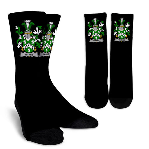 Wynne Ireland Crew Socks - Irish Family Crest  | Over 1400 Crests | High Quality | 1sttheworld