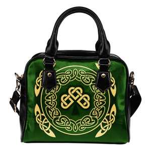 Ireland Shoulder Handbag Shamrock and Celtic Corner TH6