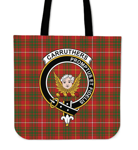 Tartan Tote Bag - Carruthers Modern Clan Badge | Special Custom Design