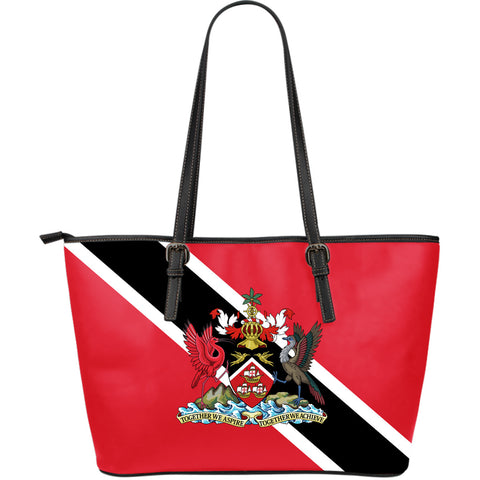 Trinidad And Tobago Leather Tote Coat Of Arms