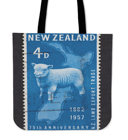 New zealand stamp tote bag 1 - new zealand stamp, tote bag, totes, bag, handbags, accessories, online shopping