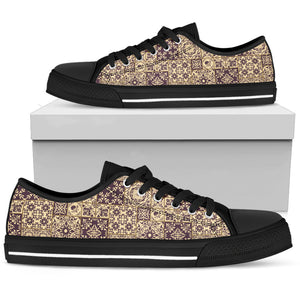 Portugal Low Top Shoe - Azulejos Pattern 21 Z3