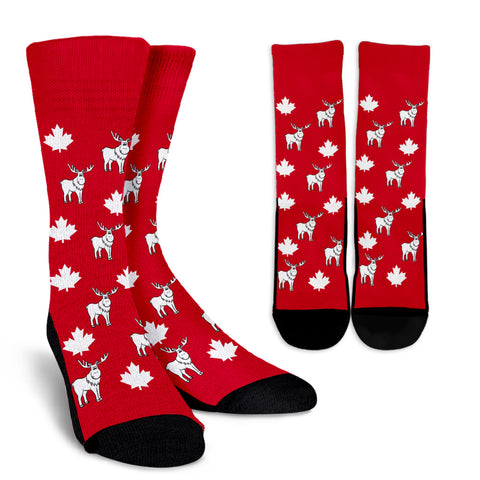 Canada Socks - Maple Leaf and Moose 2 - BN08