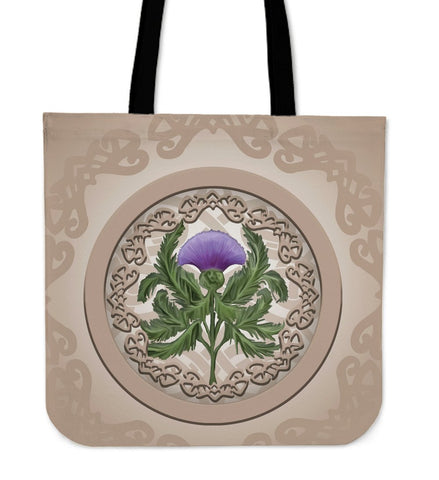 Scotland Tote Bag - Luxurious Cream Thistle Flowers - BN01