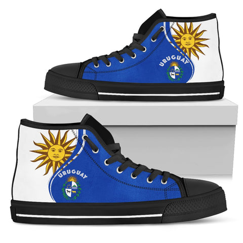 Uruguay High Top Canvas Shoe - Sky Style K7