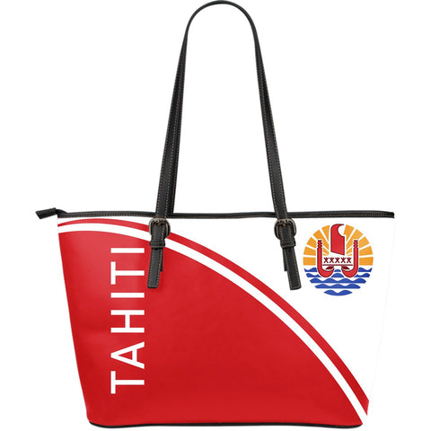 Tahiti Large Leather Tote Bag - Curve Version - Bn04 |Bags| Love The World
