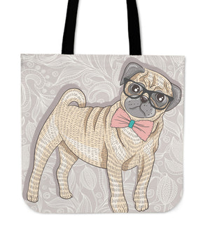 Pug Dog Tote Bag - pug tote bag, pug, tote bag, handbags, online shopping