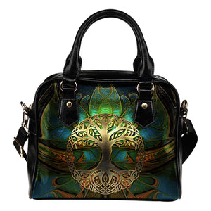Celtic Shoulder Handbag - Luxury Golden Celtic Tree | HOT Sale
