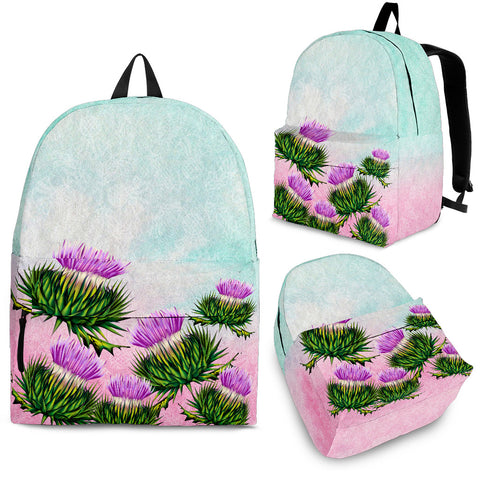 Scotland Backpack - Thistle Watercolor | HOT SALE