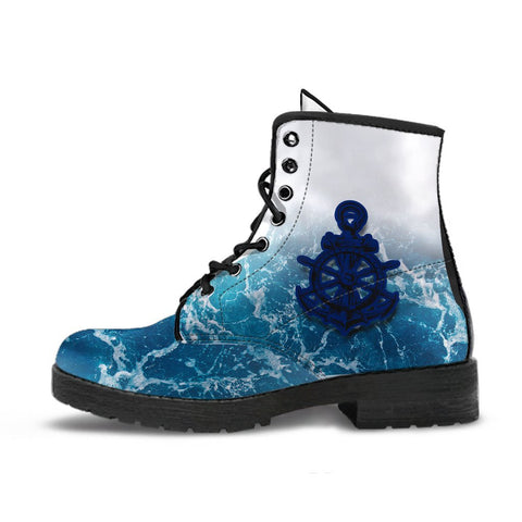 Australia Royal Navy Leather Boots - Ocean Is Home