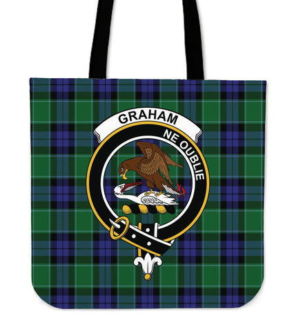 Tartan Tote Bag - Graham of Menteith Modern Clan Badge | Special Custom Design