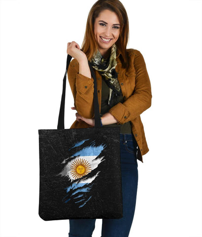Argentina In Me Tote Bag - Special Grunge Style A31