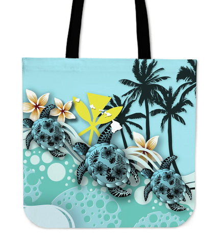 Hawaii Tote Bag - Turtle Hibiscus | Love The World