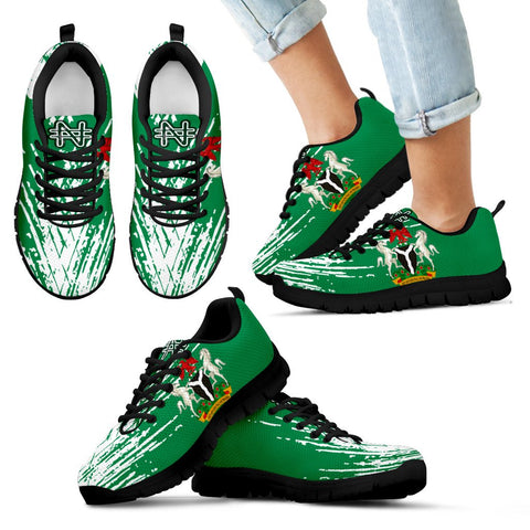 Nigeria Sneakers - Flag And Coat Of Arm - BN12