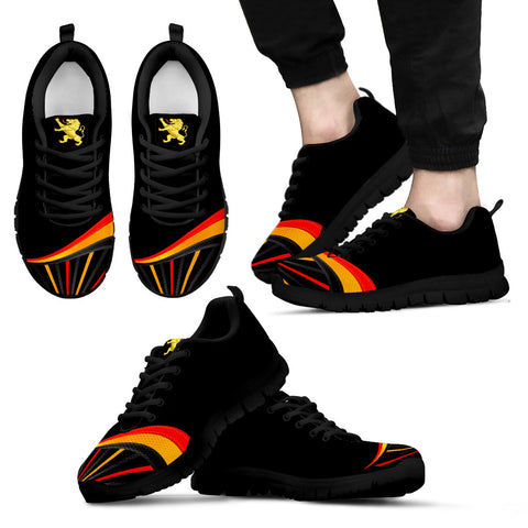 Belgium Sneakers Flag and Coat of Arms