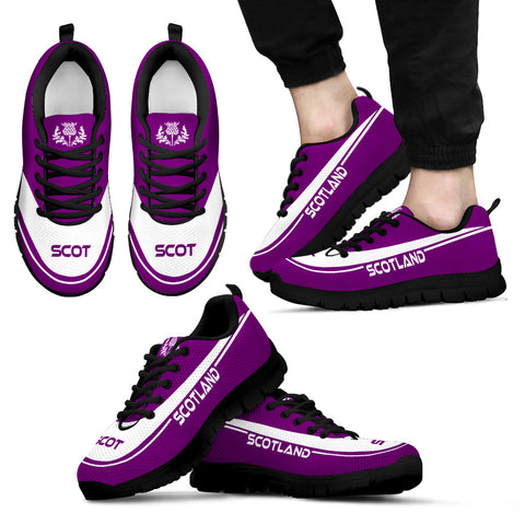 Image of Scotland Sneaker - Purple Style, Scotland Thistle, Scotland Shoe, Footwear