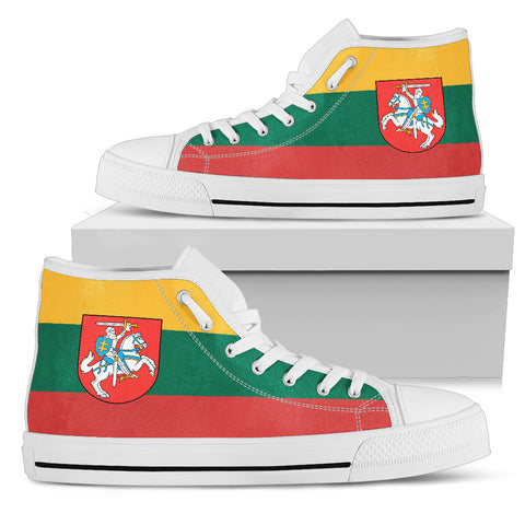 Image of Lithuania - Lietuva Flag High Top - Men's/Women's Canvas Shoes NN6