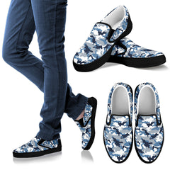 Camo Slip Ons - Black Men