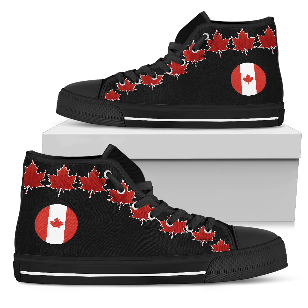994d907205 Canada Flag And Maple Leaf High Top Canvas Shoes H1 – LoveTheWorld