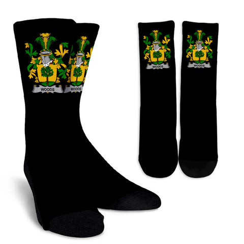 Woods Ireland Crew Socks - Irish Family Crest  | Over 1400 Crests | High Quality | 1sttheworld