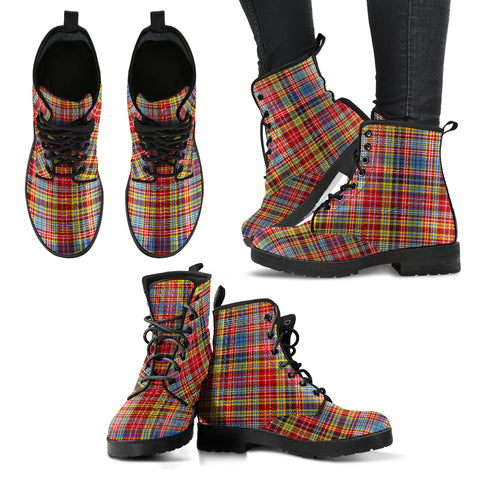 Ogilvie Of Airlie Ancient Tartan Leather Boots Hj4 |Footwear| Love The World
