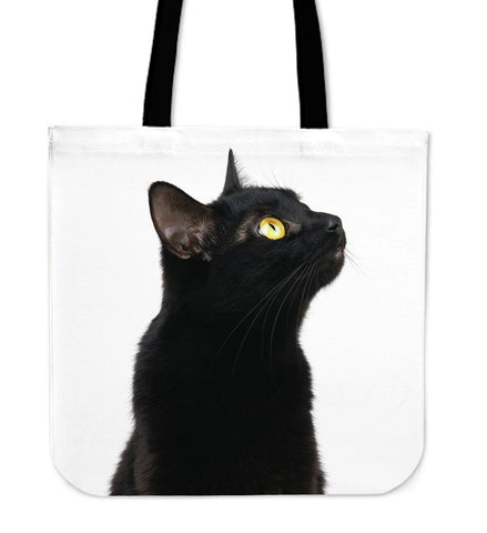 Black Cat Cloth Tote Handbag