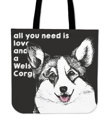 Corgi Dog Tote Bag - corgi tote bag, corgi, tote bag, handbags, online shopping