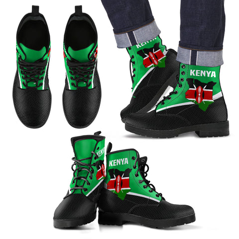 Kenya Map Special Leather Boots | High Quality | Hot Sale