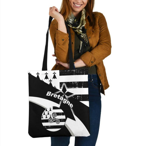 Brittany Celtic Tote Bags - Brittany Celtic Triskelion