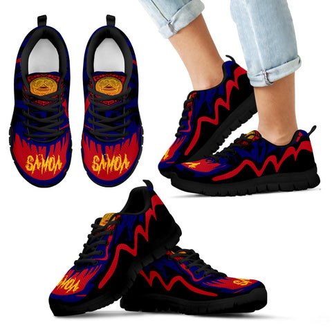 Image of American Samoa Sneakers - Crazy Style - Black - For Kid
