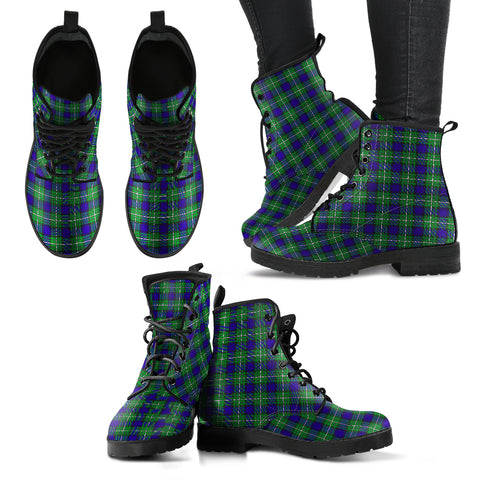 Alexander Tartan Leather Boots Hj4 |Footwear| Love The World