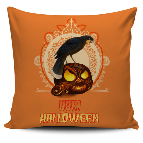 Image of Hari Halloween With Huia New Zealand Pillow Cover K5