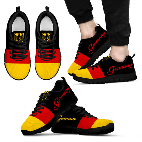 German flag with german coat of arms sneakers 2 - german shoes, deutschland shoes, german flag, footwear, shoes, german coat of arms, online shopping