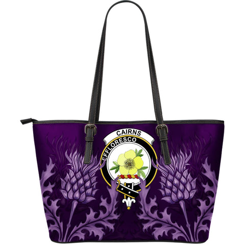Cairns Leather Tote Bag - Scottish Thistle (Large Size) A7