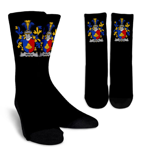 Winch Ireland Crew Socks - Irish Family Crest  | Over 1400 Crests | High Quality | 1sttheworld