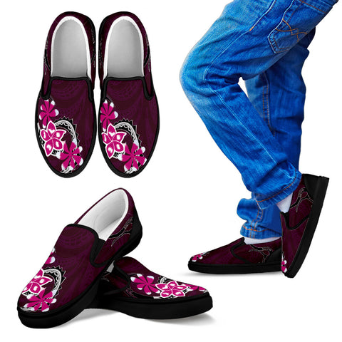 Hawaii Slip Ons - Hawaiian Flower Purple Edition H4