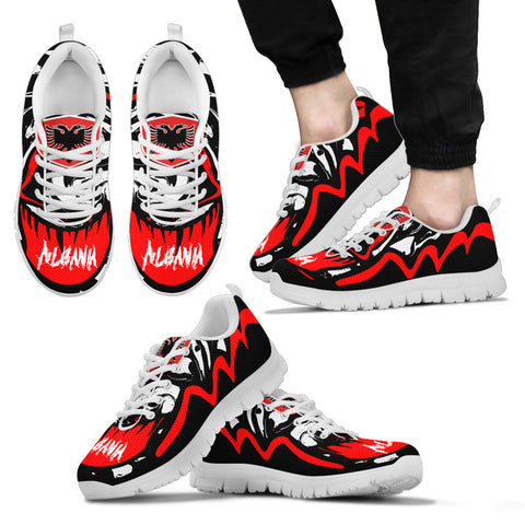 Image of Albania Sneakers - Crazy Albania Style - White - For Men