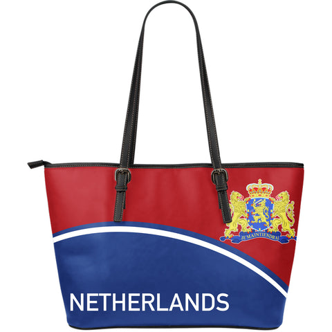 Netherlands Large Leather Tote - Curve Version - BN01