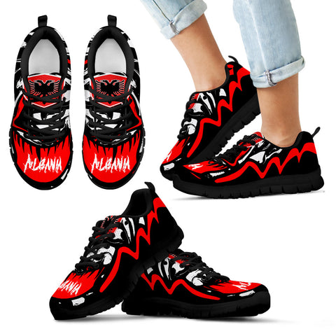 Image of Albania Sneakers - Crazy Albania Style - Black - For Kid