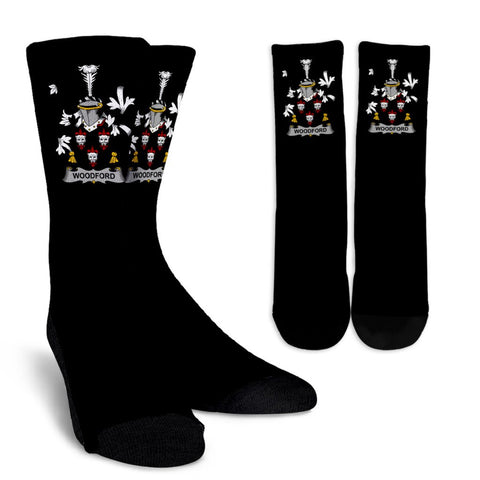 Woodford Ireland Crew Socks - Irish Family Crest  | Over 1400 Crests | High Quality | 1sttheworld