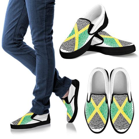 Jamaica Fingerprint Flag Slip Ons H9