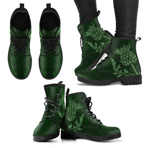 Scotland Leather Boots - Scottish Thistle H4