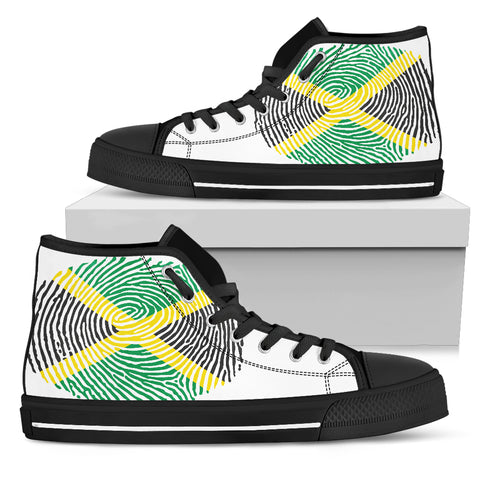 Jamaica Fingerprint Flag High top shoes H9