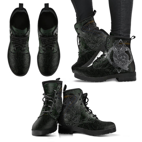 Celtic boots-Owl men's/women's leather boots NN2